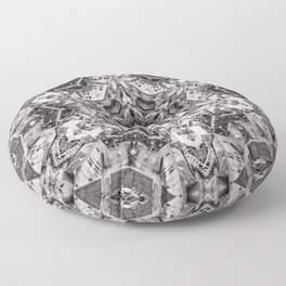 Structural Sepia City Floor Pillow