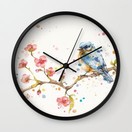 Little Journeys (BlueBird) Wall Clock