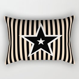 The Greatest Star! Black and Cream Rectangular Pillow