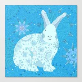 Iced Touchy Bunny Canvas Print