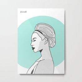 Profile B Metal Print