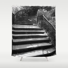Stairway to the City Shower Curtain