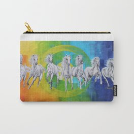 7 Horses Painting Carry-All Pouch