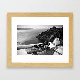 Old boat Framed Art Print