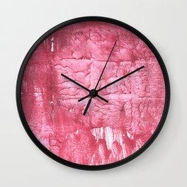 Cinnamon Satin abstract watercolor Wall Clock