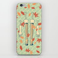 fall iPhone & iPod Skins featuring fall by freshinkstain