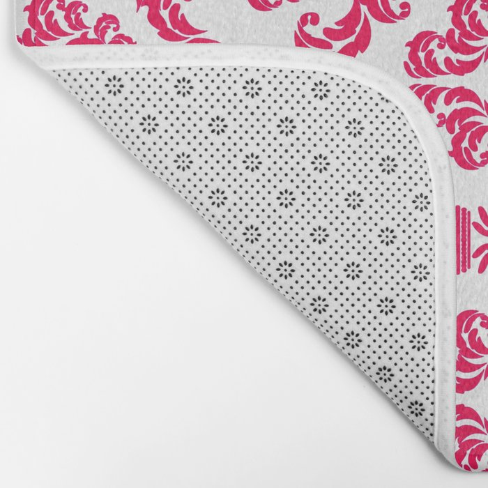 DAMASK PINK RED Bath Mat