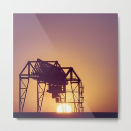 Techno sunset Metal Print