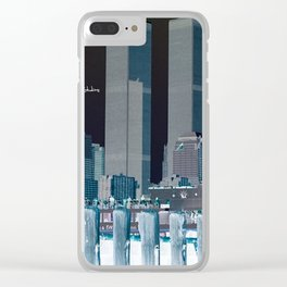 Twin Towers Clear iPhone Case
