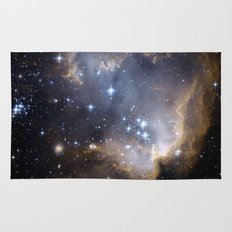 Stars, Nebula in Space Rug