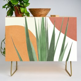 Abstract Agave Plant Credenza