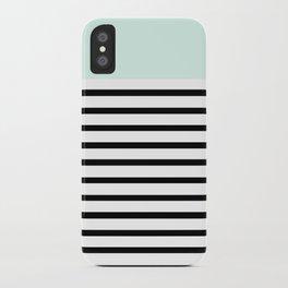 Pinstripe Color Block (Mint) iPhone Case