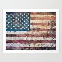 america Art Prints featuring america  by Roquito