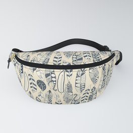 joyful feathers cream Fanny Pack