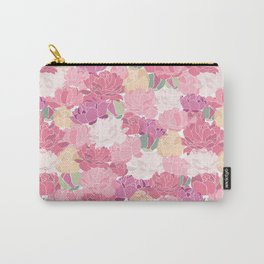 Rose Peony Flowers Carry-All Pouch