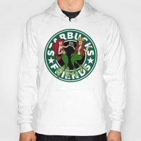 starbucks Hoodies featuring Starbucks Friends  by Ellador