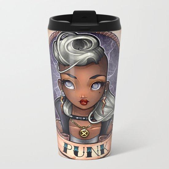 PUNK pinup Metal Travel Mug