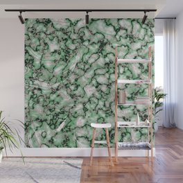 Spring Green & Rose Gold Marble Texture Wall Mural