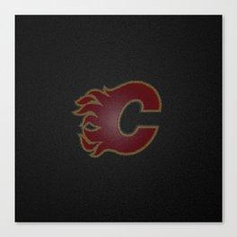 CalgaryFlames Logo Canvas Print