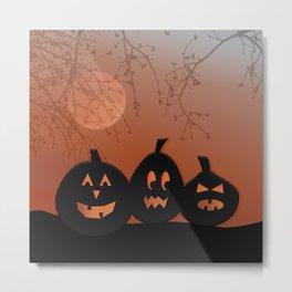 Halloween Pumpkins Metal Print