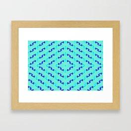 1508 Metallic waves pattern Framed Art Print