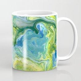 Blue Green Yellow Lava Flow Coffee Mug