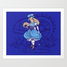 Steampunk Alice Art Print