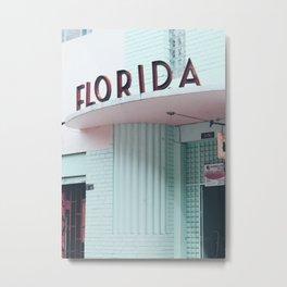 Florida Architecture Metal Print