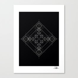 Sacred geometry art, Black and white occult Canvas Print