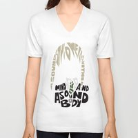 soul eater V-neck T-shirts featuring maka albarn soul eater by Rebecca McGoran
