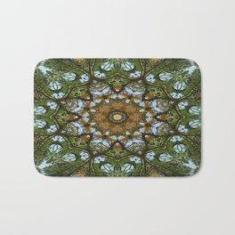 Yellow Tree Flower Kaleidoscope Art 5 Bath Mat