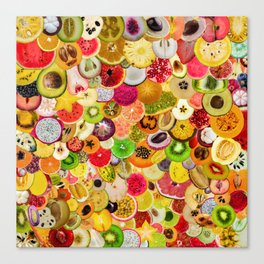 Fruit Madness (All The Fruits) Canvas Print