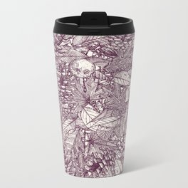 forest floor berry ivory Metal Travel Mug