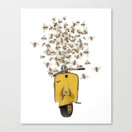 BEES LOVE VESPA - As sweet as Honey Canvas Print
