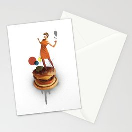 These Burgers Are Crazy | Collage Stationery Cards