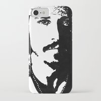 johnny depp iPhone & iPod Cases featuring Johnny Depp by Jeanique van den Berg