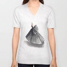 Polka Dot Watercolor Fashion Gown Unisex V-Neck