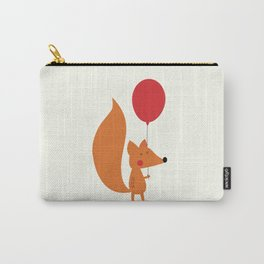 Fox With A Red Balloon Carry-All Pouch