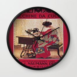 Vintage poster - Naumann Sewing Machine Wall Clock