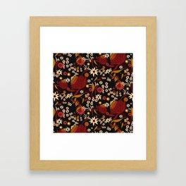 Australian Natives Red Blossom Framed Art Print
