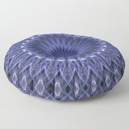 Dark blue mandala Floor Pillow