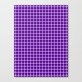 Lavender Violet and Indigo Violet Checkerboard Canvas Print