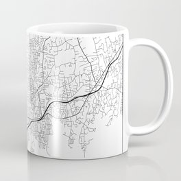 Minimal City Maps - Map Of Stamford, Connecticut, United States Coffee Mug