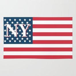 New York American Flag Rug