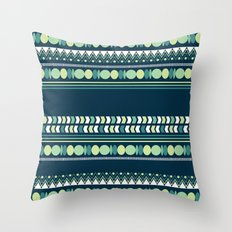 Geometry in Indigo and Teal Throw Pillow