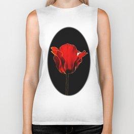 Red tulip fractal Biker Tank
