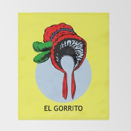 El Gorrito Mexican Loteria Card - The Small Hat Throw Blanket