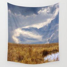 landscape 002: golden slumbers, big sky Wall Tapestry