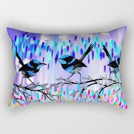 Purple fairy Wren Party Rectangular Pillow