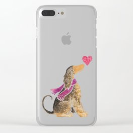 Watercolour Afghan Hound Clear iPhone Case